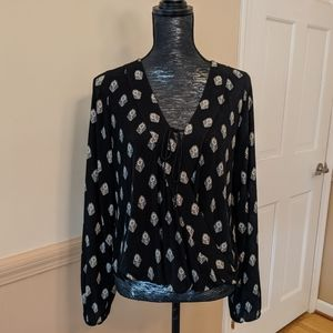 Mossimo Printed Wrap Blouse
